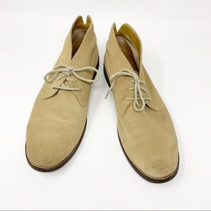 Cole Haan Desert Boot Chukkas Tan Suede lace up